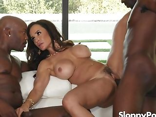 In Demand Cougar Sex Industry Star Lisa Ann Interracial Gang-fuck