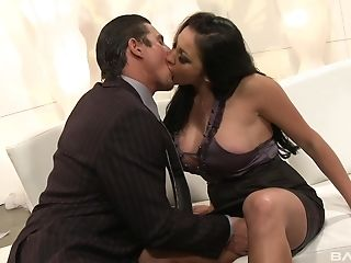 Lengthy Hair Dark-haired Audrey Bitoni  Knows How To Please A Dude