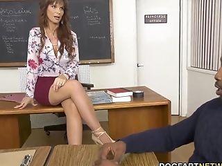 Hump-crazy Milky Lecturer Syren De Mer Gets Blacked In Front Of Dean
