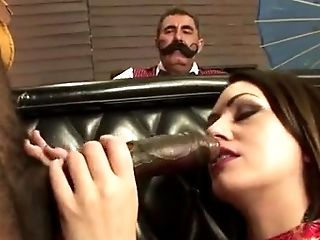 Mil gargles black bone infront of hotwife hubby