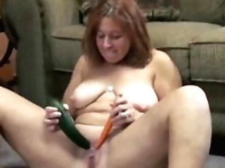 Matures Bi-atch Liisa Is Stuffing Her Twat With A Cucumber