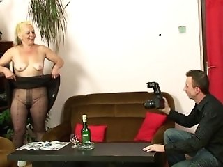 He Fucks His Gfs Mommy In Pantyhose
