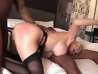 Cougar Cammille Is Fucked By A Few Insatiable Black Dudes