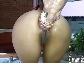 Giant Rectal Bottle Fucked Inexperienced