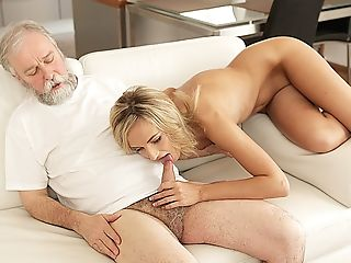 Old4k. Tea And Very Hot Mating Is How Chick Starts Day With...