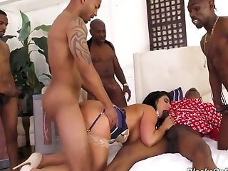 Raven Hart Interracial Group Sex
