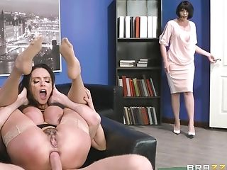 Thrilling Mummy Feet Fetish And Sodomy At The Office