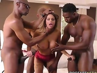 Brooklyn Chase Interracial Gang-bang
