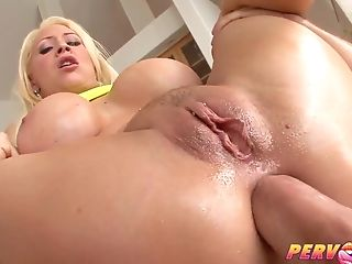 Huge-titted Blonde Mummy Bombshell Booty-fucked By Monster Penis