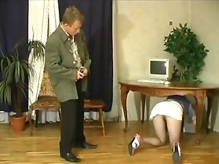 Dude Catches A Kneeled Bombshell To Fuck Her Rear End Style