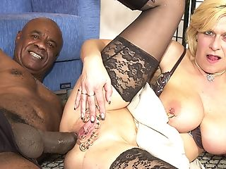 Pierced Matures Bootie Pounded By A Black Monster One-eyed Snake