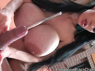 Penelope Black Diamond - Cock Ball Torture Perverted Pornography Vid