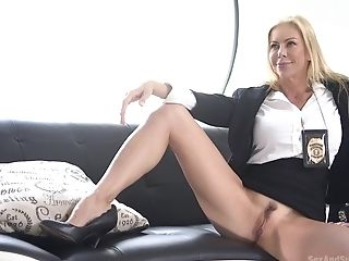 Smoking Hot Policewoman Alexis Fawx Is Tied Up And Fucked By One...