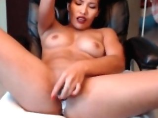 Asian Mummy Masturbating And Faux Internal Cumshot