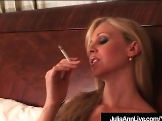 Gorgeous Mummy Julia Ann Deepthroats On Cig & Masturbates In...