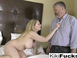 Kiki Gets Caught Playing With Herself By Her Horny Step Uncle!