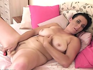 Mom Plays With Faux-cock