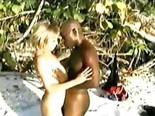 Wifey Gets Her Very First Big Black Cock On A Jamaican Beach While...
