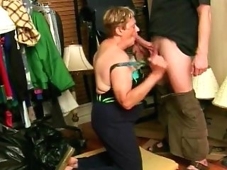 Granny Bj And Facial Cumshot