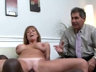 Big-chested Mummy Ir Pounded While Hubby Witnesses