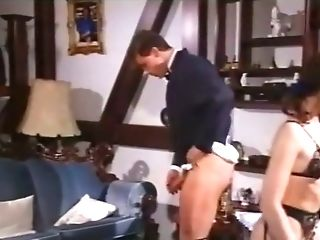 Blonde Old School Mummy In Black Underwear Feeds On A Dick And Fucks