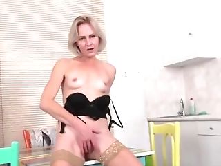 Canadian Gorgeous Stepmom Fucks In The Kitchen With Stepson