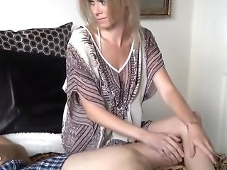 Stepmom Catches Son-in-law Jerking Off