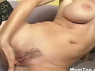 Huge-chested Mummy And Daughter-in-law Share A Dick In Threesome