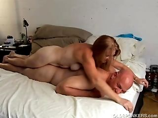 Horny old spunker is super hot fuck and loves jizm