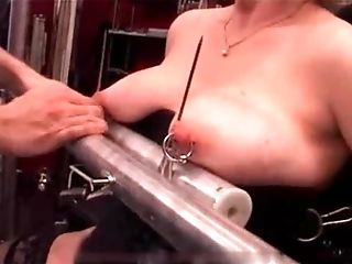 My Sexy Piercings - intense pierced marionette tormented with candle