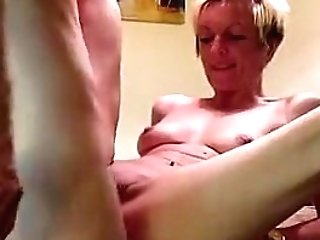 Fucking My Nice Cougar On Kitchentable