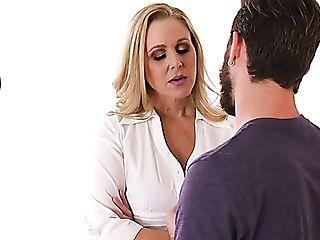 Rigid Auburn Manager Julia Ann Entices Office Friend To Rail Him On...