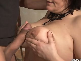 Promiscuous Matures Woman Gives A Blow-job And Tit Fucking Before A...