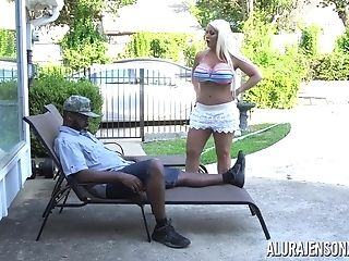Huge-boobed Cougar Alura Jenson Pounded By A Big Black Manhood