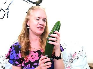 My Granny Buys A Cucumber For Onanism