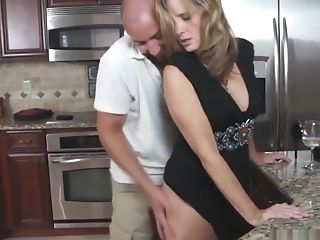 Jodi West Cougar Make Love In Kitchen With Stepson