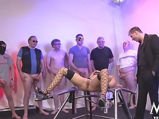 German Blonde Mommy Group Sex And Mass Ejaculation