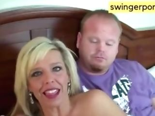 Swapper Duo Exchange Playmates Then Give Thank You Oral Pleasure To...