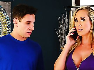 Awesome Big-titted Mummy Brandi Love Goes Nuts While Railing Fat...