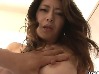 Orgy-thirsty Japanese Honey Maki Hojo Gets Her Muff Finger Fucked