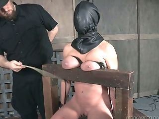Crucified Bitch Dee Williams Gets Her Slit Penalized In The Basement