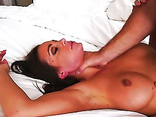 Flawless Suntanned Stunner Abigail Mac Makes Her Baps Bounce While...