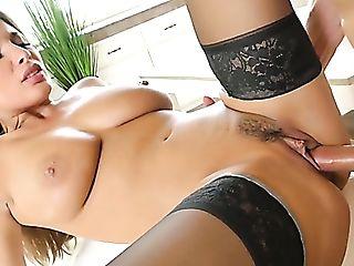 All Horny Lengthy Legged Nymphomaniac In Black Stockings Anissa...