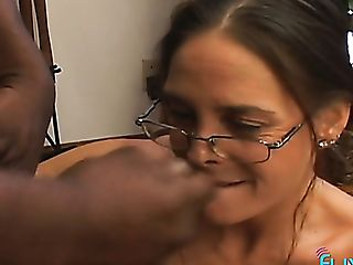 Nerdy Buxomy Nymphomaniac Provides Her Black Masculine Colleague...