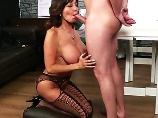 Cockblowing Matures Doc Spunked On Face