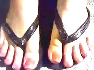 Watching Her Sexy Toes Got Me Horny