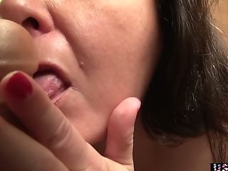 Chubby Old Whore Is Blessed To Go Solo And Masturbate Her Humid Muff