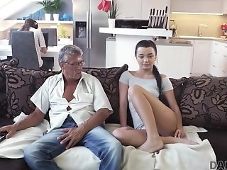 Daddy4k. Man Is Occupied With Computers So Why Gf Fucks His
