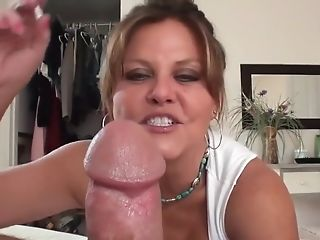Cougar Smoking Tugjob