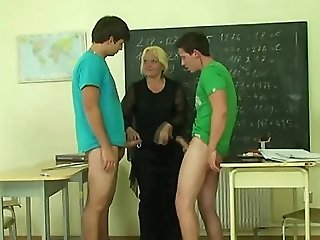 Matures Professor Is Pounded By Two Horny Pupils